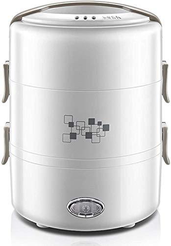 JILIGUALA Elektrische Brotdose, 220V 1.6-2.0L, 3-Tier-Konfiguration, Siliconbasis Lebensmittel-Heizungs-Wärmer, Umlaufdampfheizung, Büro Schule und zu Hause