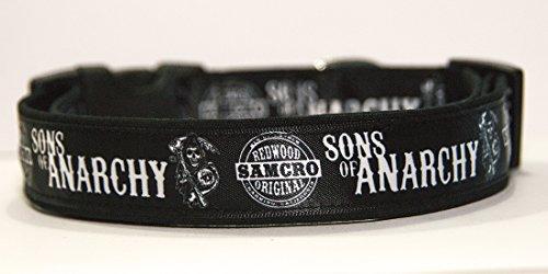 Hijos De La Anarquia Sons of Anarchy Samcro Redwood Original Men of Mayhem Charmig California Collar Perro Hecho A Mano Talla L Handmade Dog Collar