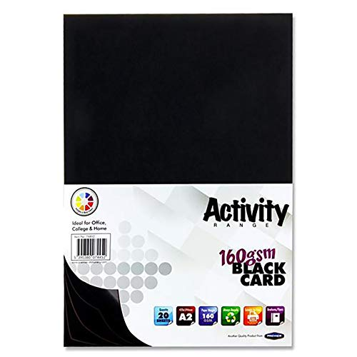 Premier Stationery - Cartulinas para actividades, A2, 160 g/m² (paquete de 20 hojas)