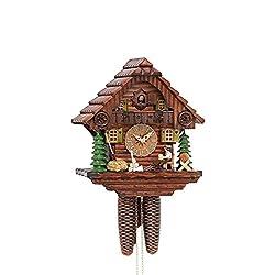 Kammerer Uhren Hekas Cuckoo Clock Black Forest House with Moving Beer Drinker KA 879