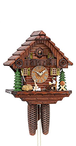 Kammerer Uhren Hekas Cuckoo Clock Black Forest House with Moving Beer Drinker KA 879