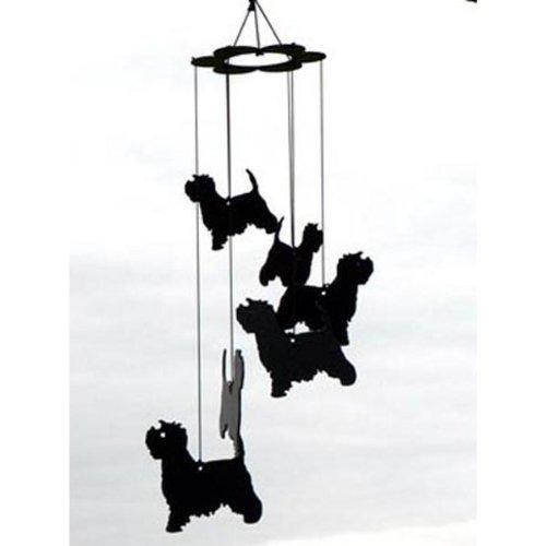 Carillon à vent en métal Motif chiens Westies