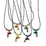 Elfen und Zwerge - Halskette Delfin - Schmuck für Kinder - Mitgebsel für Geburtstagsparty - Freundschaftskette - 6 Stück