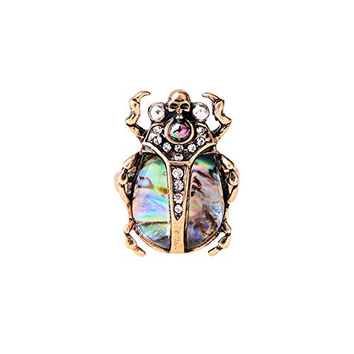 Coralove Beetle Zinc Alloy Ring Womens Jewelry