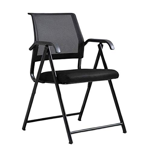 Black Ergonomic Folding Chair Computer Desk And Chair Executive Mesh Chair Dining Chair Portable Stool Dormitory News Chair, Suitable For Home/Office, Black