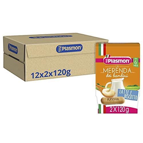 Plasmon Merenda Latte e Biscotto 24x120g
