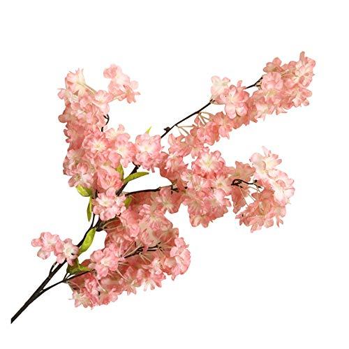 YSDSPTG Künstliche Blumen Künstliche Blume Pflanze Bonsai Hochzeit Dekoration Pflanze Wand Kirschblüten Frühling Sakura DIY Dekoration Sztuczne Kwiaty Freizeit, Haus & Garten (Color : A)