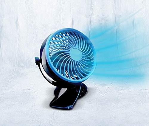 Livington Go Fan – mobiler Mini Ventilator mit Akku – kraftvoller USB Ventilator mit 6h Laufzeit – flexibler Tischventilator zum Aufstellen oder Klemmen – schwarz