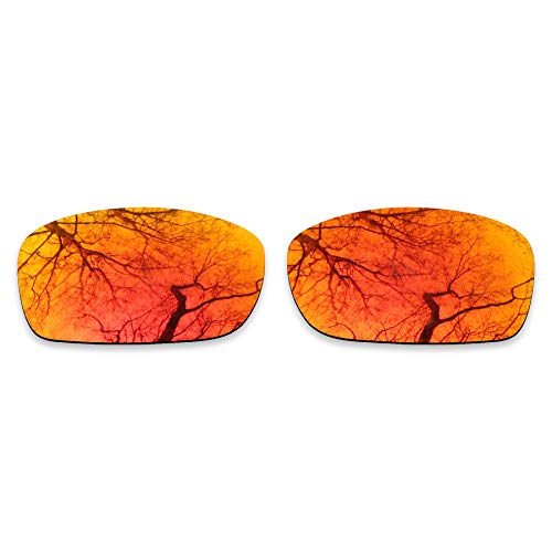 ToughAsNails Reemplazo de lente polarizada para Oakley Fives Squared Sunglass - Más opciones, Naranja Fuego, Talla única