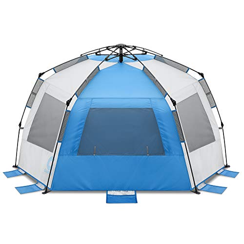 Gonex Pop Up Beach Tent for 1-3 Person,Rated UPF 50+ for UV Sun Protection,Waterproof Sun Shelters for Family Camping, Fishing, Picnic, Bench