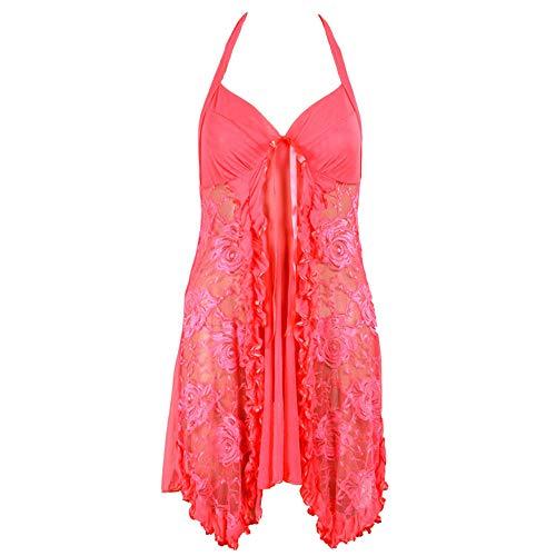 Wo nice Damen Lace Pyjamas Sexy Dessous Pyjamas Hosenträger Kleid Casual Nightdress Geeignet Für Den Valentinstag, Flitterwochen, Hochzeitsnacht