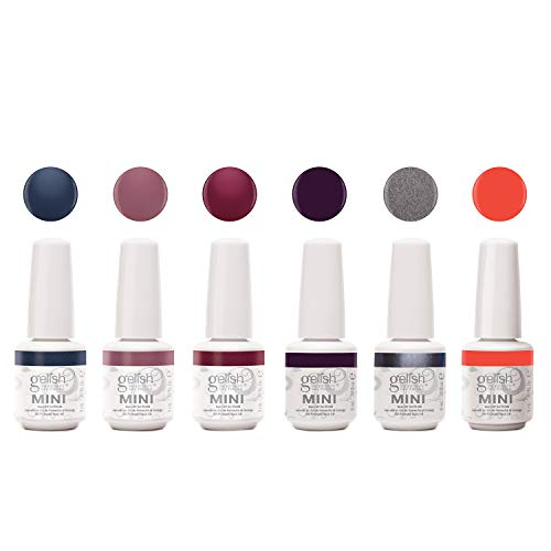 Gelish Mini Midnight Caller Collection 9 mL Soak Off Gel Nail Polish Set, 6 Pack