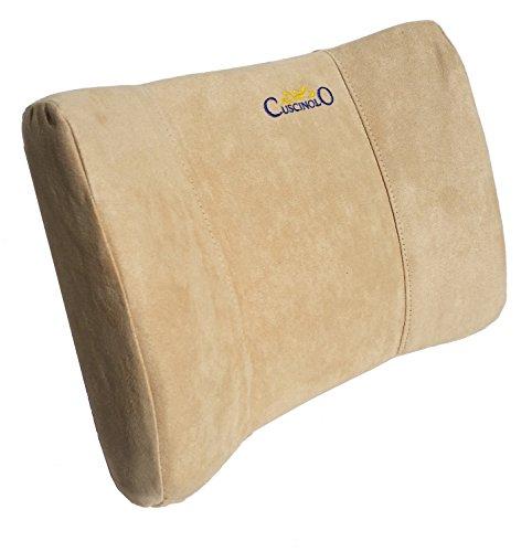 Cojín lumbar, soporte lumbar, cojín para el coche, sostén lumbar, cojín ortopédico, postura (beige)