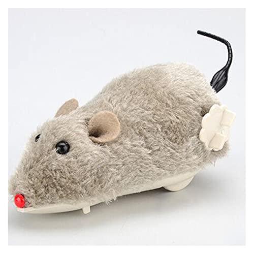 LIAZNGNA Juguete de gato Juguete creativo divertido reloj de primavera de juguete de peluche juguete de gato perro jugando juguete movimiento mecánico ratas accesorios para mascotas (tamaño al azar)