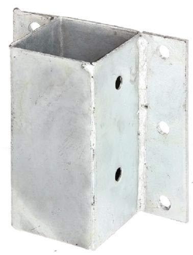 ITALFROM Support galvanisé à soufflet pour poteau carré en bois 70 x 70 cm