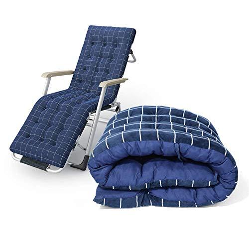 ywewsq Cojín de Repuesto para Tumbona, Grueso y sostenible, Relax with Ties Cojín cómodo para Silla, para Silla reclinable Azul 175x55cm (69x22inch)