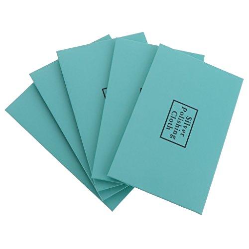 D DOLITY Paquete de 5 Paños de Limpieza Pulido para Plata Oro, Paño de Limpieza Antideslizante - Verde
