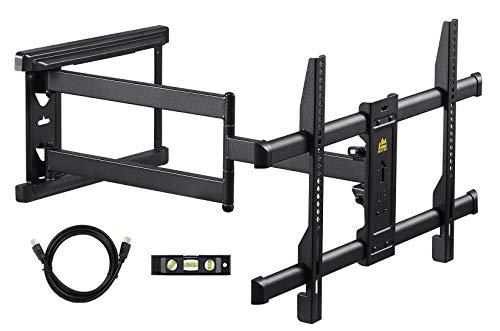 FORGING MOUNT Soporte de pared para TV de largo alcance, giratorio inclinable, soporte de TV con brazo de 765mm largo para instalación en,se adapta TV de 37-70 pulgadas,VESA 600x400mm,soporta 45kg