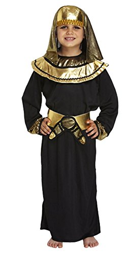 Islander Fashions Boys Costume da faraone egiziano Childrens Tutankhamun Book Week Fancy Dress Outfit Nero Medio 7-9 anni