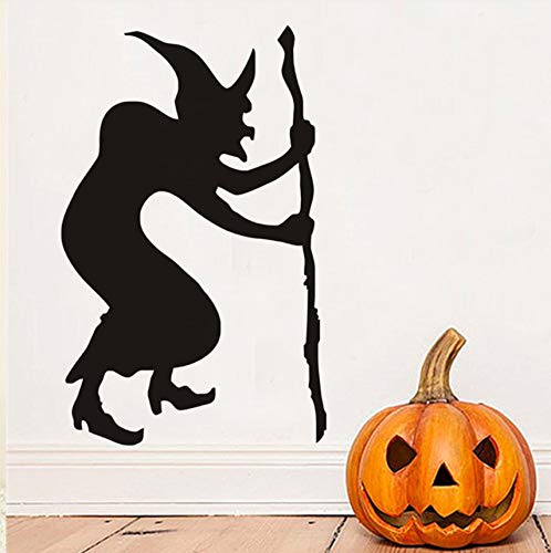 Hwhz 44 X 69 Cm Glöckner Hexe Halloween Wandaufkleber, Halloween Wandtattoos, Hexe Silhouette Wallpaper Halloween Dekoration Home Decor