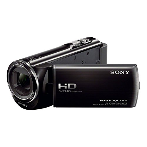 Sony HDR-CX280EB HD Flash Camcorder (1920 x 1080 Pixel, ZEISS Optik mit 27-Fach Zoom (50x erweitert), Automatikmodus) schwarz