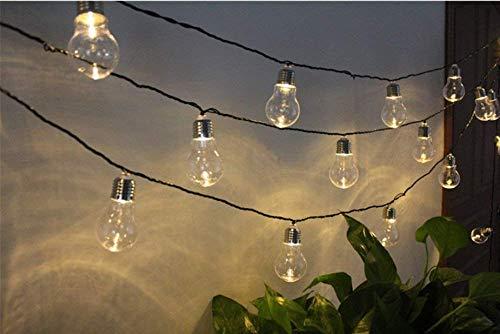 JIANMIN Decoraciones para el hogar Luces de cadena de hadas, 3M 30LED Pascua Decoración Cadena de luces de alambre de cobre Cadena de luces de conejo con pilas