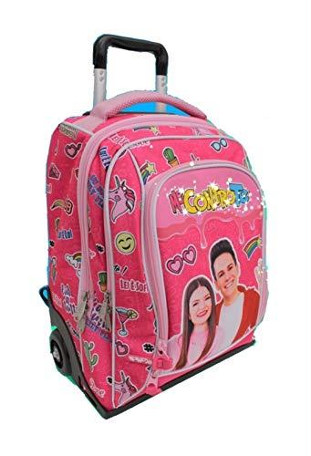 Me contro Te Trolley mochila rosa Girl con luces + llavero girabrisas + pulsera colgante ángel rosa + 10 bolígrafos brillantes