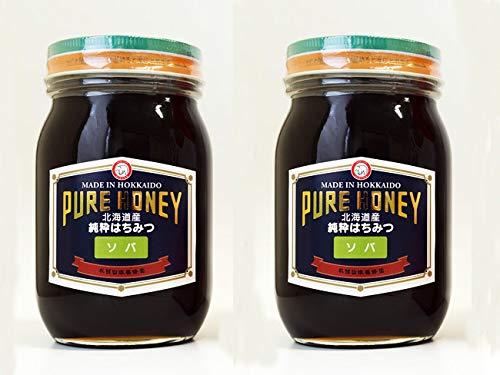 そば蜂蜜600g×2個セット(北海道幌加内産 そばハチミツ)純正ソバはちみつ(化粧箱入り)お蕎麦の花の蜜 天然蜂蜜(PURE HONEY)良質の蜂蜜