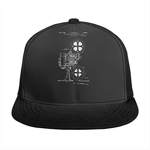 映画プロジェクター野球帽調節可能なキャップ