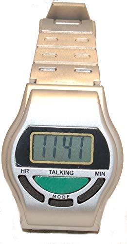 sprechende Uhr Armbanduhr Blindenuhr 92974 Silber