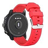 Ruentech Correa de repuesto compatible con Umidigi Uwatch 2/Umidigi Uwatch 2S/Umidigi Uwatch 3s/Umidigi Urun/Umidigi Uwatch, pulsera de silicona, 22 mm, color rojo