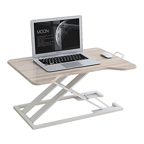 WLGQ Convertidor de Escritorio de pie Ajustable en Altura Estación de Trabajo de Soporte Sentado Monitores portátiles de Mesa de 29.5 Pulgadas para Oficina en casa (Color: Color Arce)