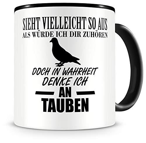 Samunshi® Ich denke an Tauben Tiere Tasse Kaffeetasse Teetasse Kaffeepott Kaffeebecher Becher