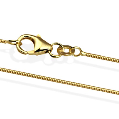 Goldmaid Kette 585 Gold Schlangenkette 45 cm Schmuck