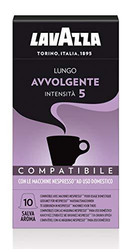 Lavazza Lungo Avvolgente, 100 Nespresso kompatible Kapseln Eco Caps (10 x 10 Kapseln)