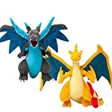 NAPANA 2PCS 10inch Pikachu Mega Charizard X Plush Toy Animal Soft Stuffed Dolls for Children Gift - Size 10 inch