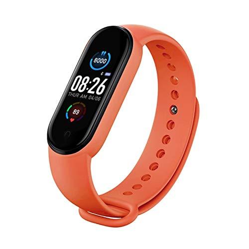 GYY Impermeable M5 Smart Band Fitness Tracker Smart Watch Pulsera Tasa De Corazón Presión Arterial Monitor De Banda Inteligente Muñeca De Salud (Color : Red)
