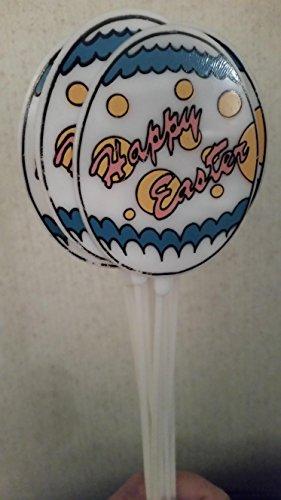 """""""Happy Easter"""" Egg Basket Floral 12 Pc Picks"""