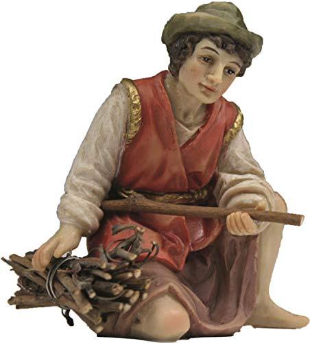 Dekop Krippenfigur Hirte kniend mit Holzbündel passend für 11cm Figuren (44635283648)