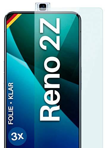 moex Klare Schutzfolie kompatibel mit Oppo Reno2 Z - Bildschirmfolie kristallklar, HD Bildschirmschutz, dünne Kratzfeste Folie, 3X Stück