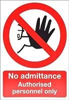RS PRO 禁止標識「立入り禁止」 PP硬質プラスチック製 黒/赤/白 297 x 420mm 7631862