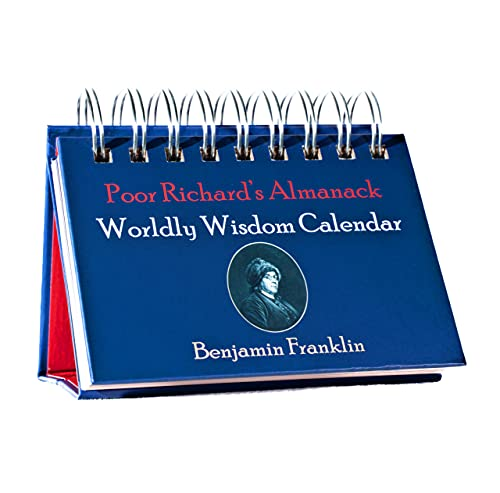 Benjamin Franklin Quotes Daily Flip Calendar - Perpetual 365 Days of Wisdom from Poor Richards Almanack for Motivation Inspiration Home Office Desk Decor