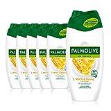 Palmolive Duschgel Naturals Honig & Milch 6 x 250 ml - Cremedusche mit Extrakten von Honig & Milch,...