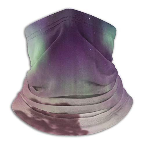 Multifunctional Headwear Face Mask Headband Neck Gaiter Aurora Over The Sea Balaclava for Men and Women