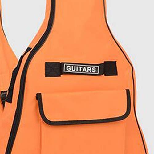 Portable Size 41 Inch Electric Guitar Bag Guitar Gig Backpack Bag Electric Guitar Gig Bag 5MM Sponge Padded Bag - Orange