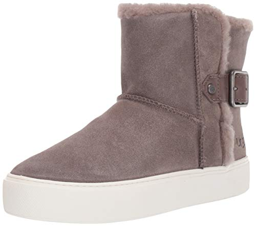 UGG Women's AIKA Ankle Boot, mole Suede, 8.5 M US