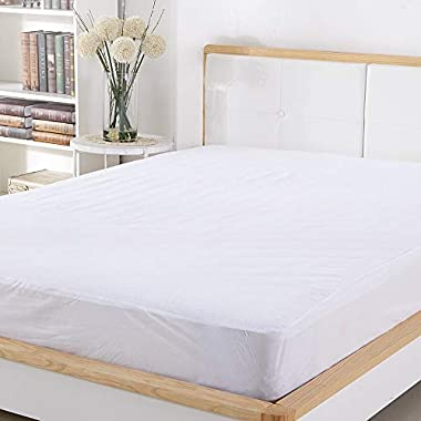Mattress Protector FDA Registered 100% Waterproof Hypoallergenic Queen Size, Dust Mite Protection, Breathable and Machine Washable, Vinyl Free