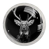 引き出しハンドルは丸いクリスタルガラスを引っ張る キャビネットノブキッチンキャビネットハンドル,暗い背景の鹿