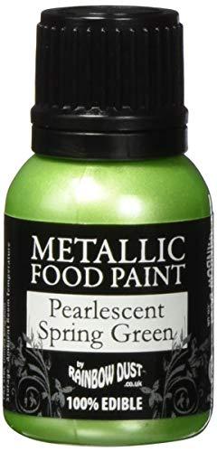 Rainbow Dust Metallic-Lebensmittelfarbe Perlmutt Spring Green, 1er Pack (1 x 25 ml)