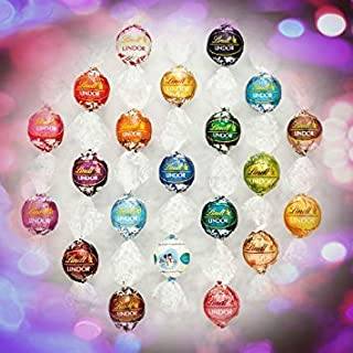 Tundras Lindor Assorted Chocolate Truffles 8-12 Flavors 100 Count In A Deluxe Gift Box